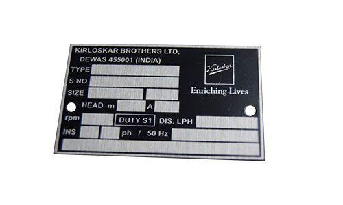 Metal Nameplate Manufacturer Pune Custom Nameplates Anography