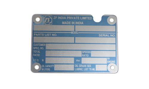 Stainless Steel Nameplate Manufacturers Pune | Anography